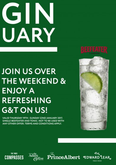 NEWSLETTER GIN AND TONIC ON US